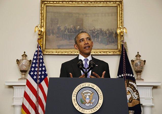 Barack Obama, lors d'un discours spécial consacré à la mise en œuvre de l'accord sur le nucléaire iranien, 17 janvier 2016