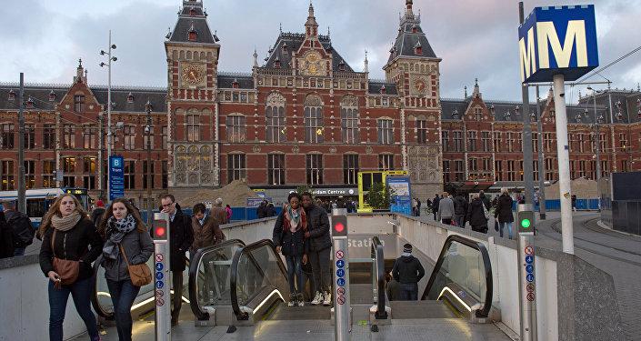 Amsterdam. Gare ferroviaire centrale