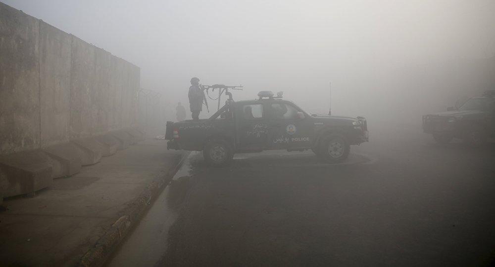 Police en Afghanistan. Image d'illustration