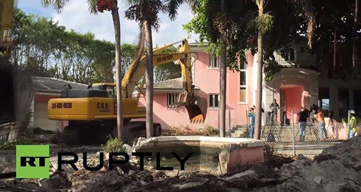 La villa de Pablo Escobar démolie