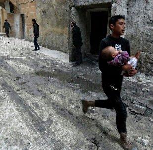 Une rue d'Alep