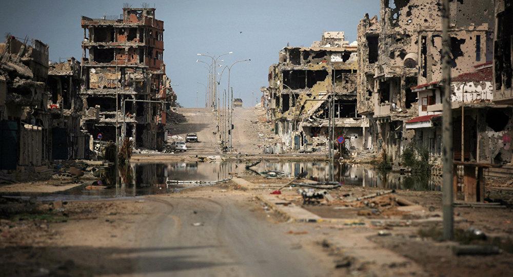 Des ruines en Syrie. Image d'illustration