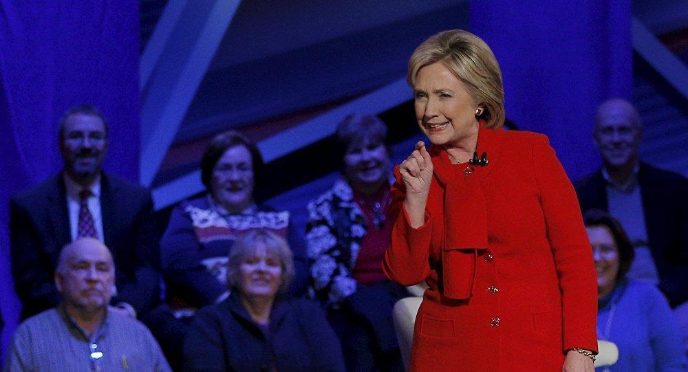 Hillary Clinton. Rencontre avec des électeurs dans l'Iowa