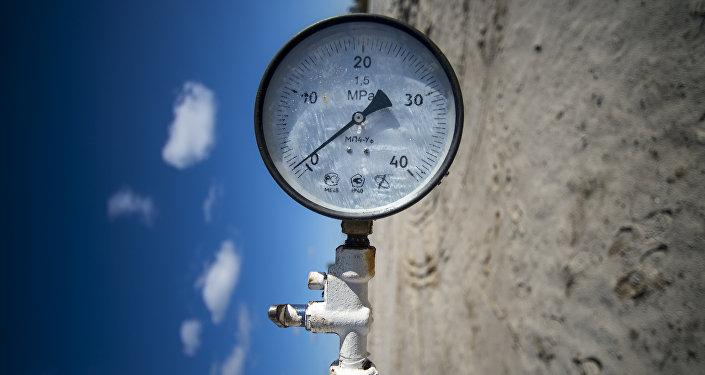 La jauge de pression sur le pipeline RN-Purneftegas