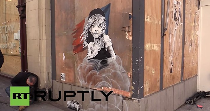 La nouvelle œuvre du graffeur Banksy