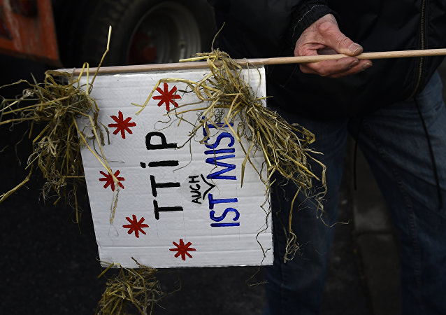 Protestation contre le TTIP à Berlin