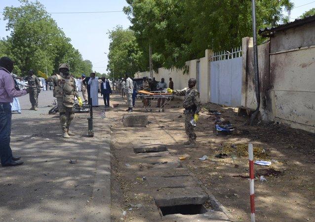 Des forces de sécurité à N'Djamena, Tchad
