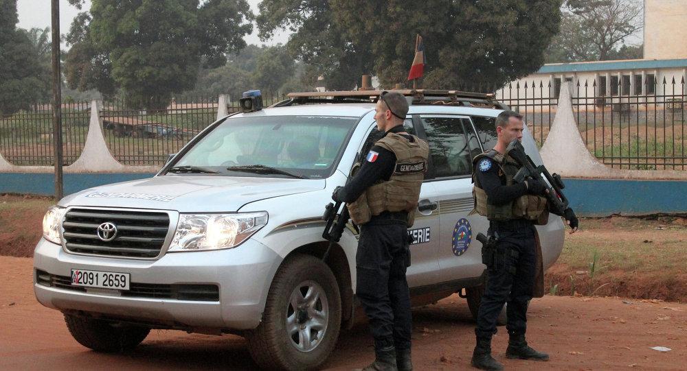 Soldats français des forces européennes en Afrique centrale (Eufor RCA)