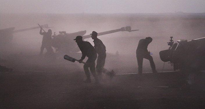 Sodats de l'armée syrienne près du village de Morek.