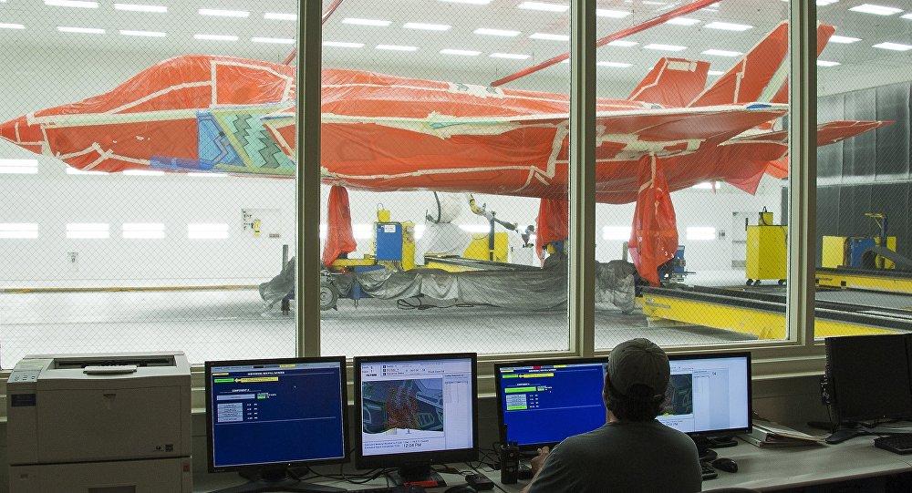 Le chasseur F-35 est vu à l'usine de Lockheed Martin au Texas