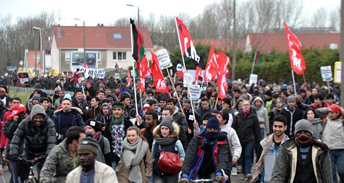 manifestation à Calais