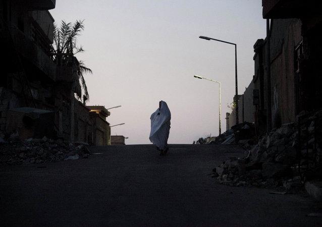 Une femme libyenne à Syrte