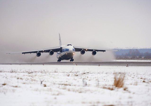L'avion-cargo Antonov 124 Rouslan