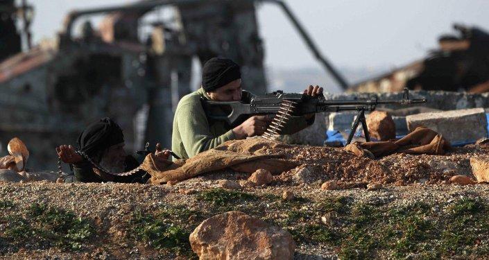 Un militaire de l'armée syrienne dans la province d'Alep