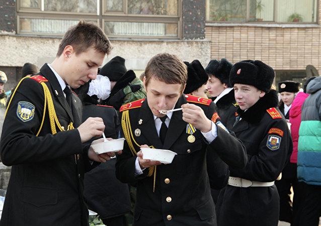 Les corps de cadets, futurs défenseurs de la Russie