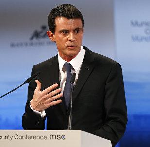 Manuel Valls lors de la Conférence sur la sécurité de Munich