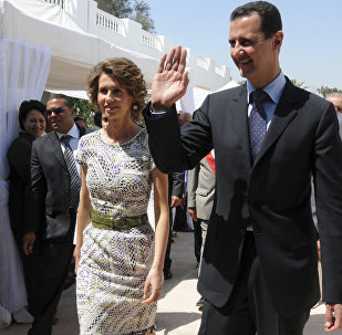 Le président syrien Bachar el-Assad et son épouse  Asma