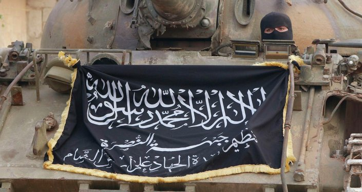 Drapeau du Front al-Nosra en Syrie