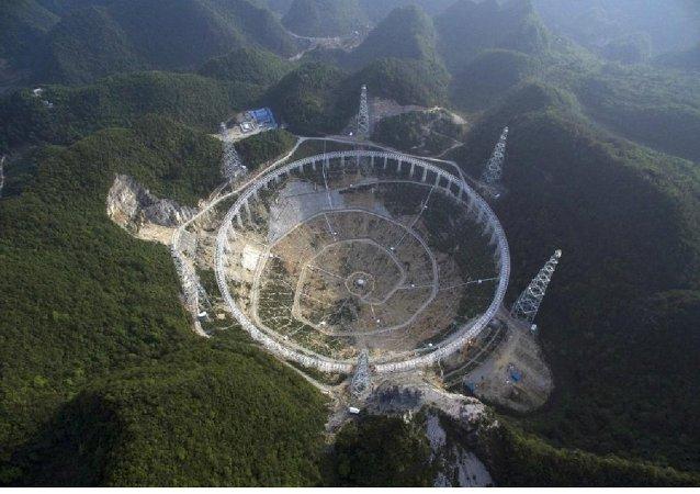 Chine: construction d'un radiotélescope géant