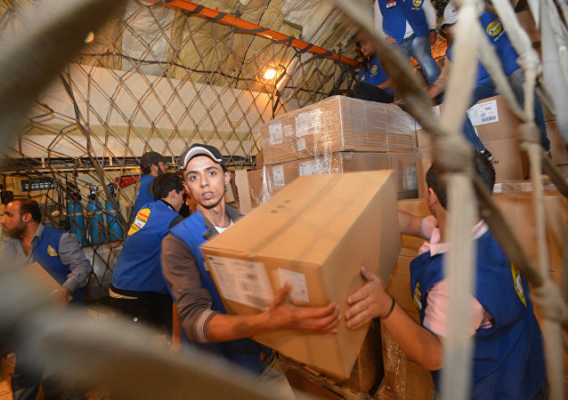 La distribution de l'aide humanitaire en Syrie, image d'illustration
