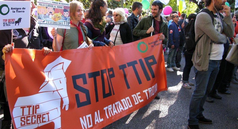 Protestations  contre le TAFTA en Europe