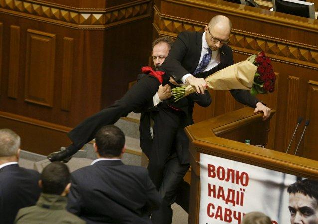 Premier ministre de l'Ukraine Arseni Iatseniouk. Archive photo