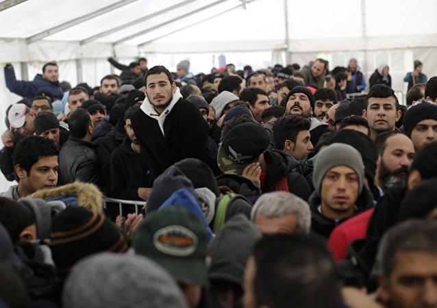 Des centaines de migrants en Allemagne