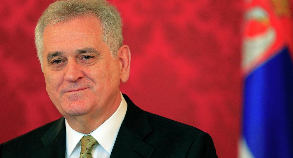 Le président serbe Tomislav Nikolic lors d'une visite à Vienne le 27 mars 2014