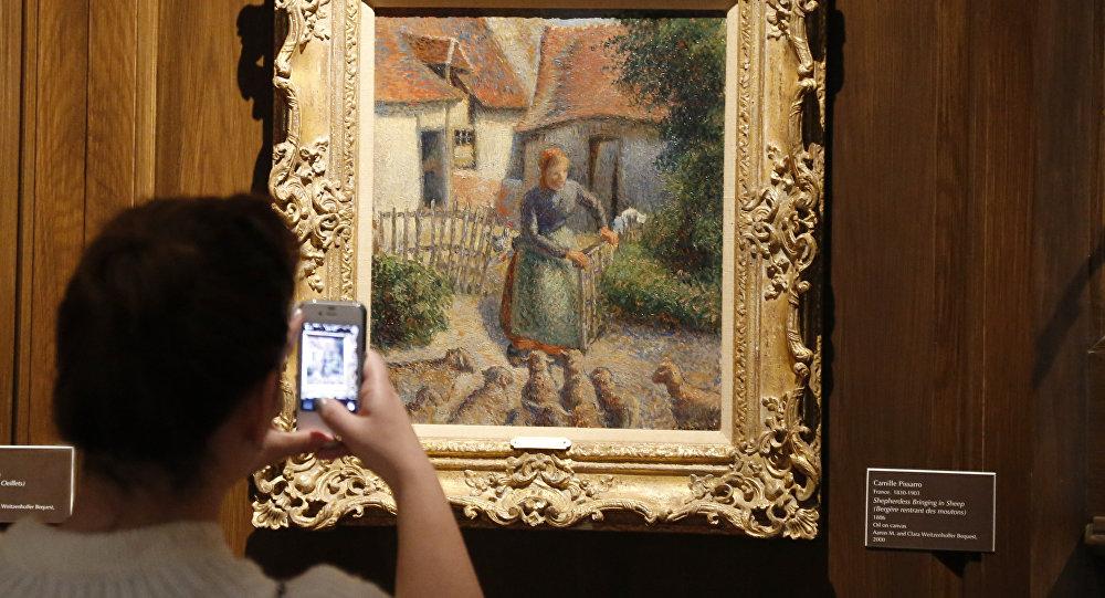 Camille Pissarro, La bergère rentrant des moutons