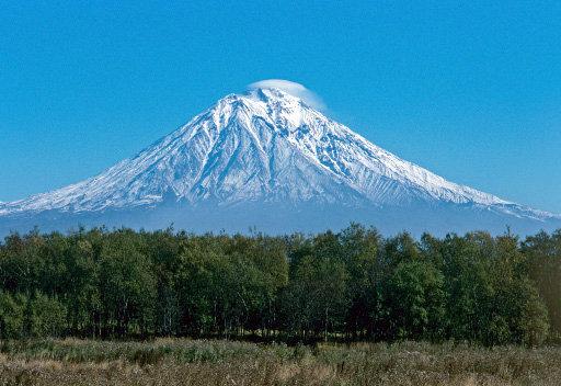 Le volcan Koriakski au Kamtchatka.
