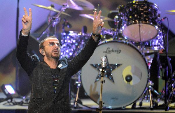 Ringo Starr en concert à Moscou.