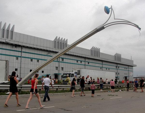 Une tornade dévastatrice a frappé dimanche la ville de Blagovechtchensk (Extrême-Orient russe).
