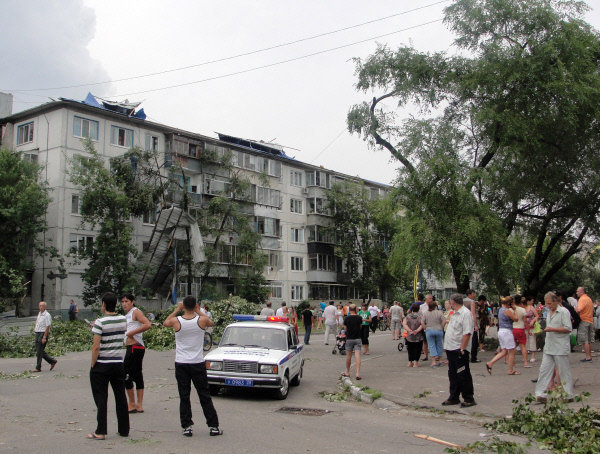 Ils ont retiré tous les arbres tombés des routes pour relancer la circulation.
