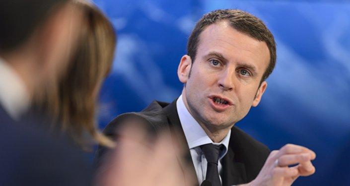 Le ministre français de l'Economie Emmanuel Macron
