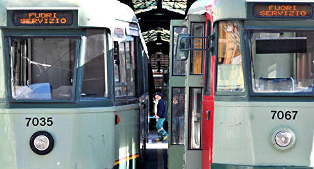 Une grève des employés des transports en commun en Italie
