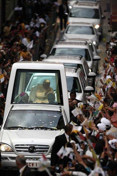 Le pape a béni les Mexicains