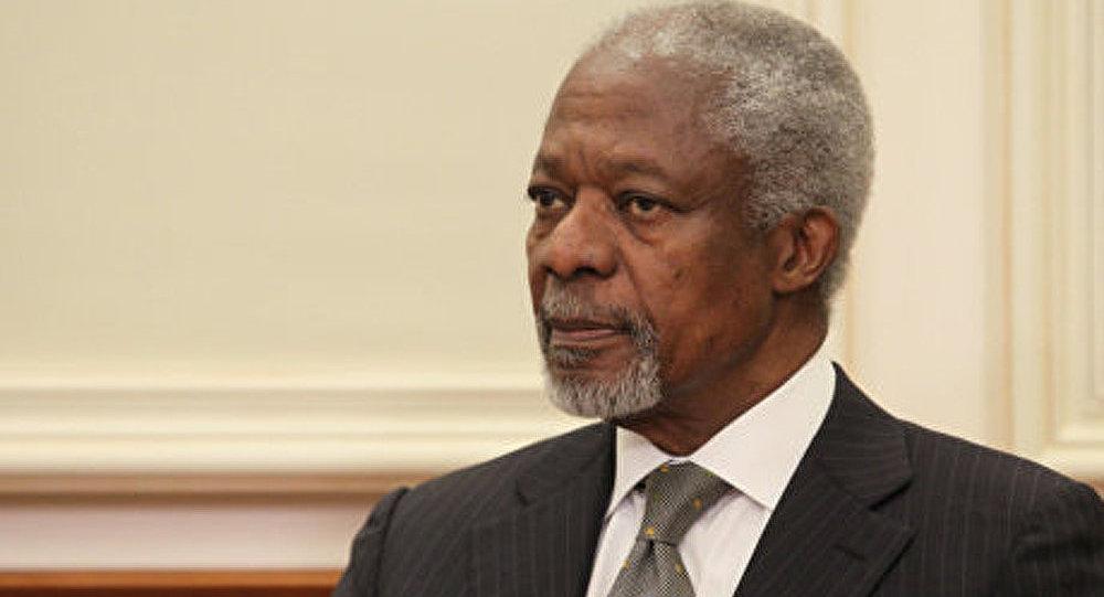 Kofi Annan est arrivé en Syrie