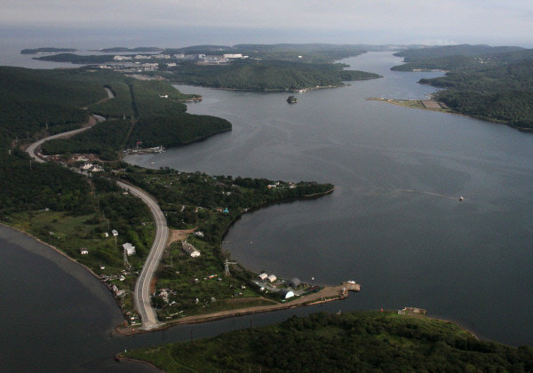 Sur la photo : la baie de Novik à Vladivostok.