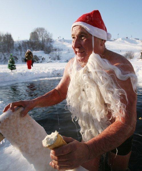 La course de Nouvel an des « morses » de Novossibirsk