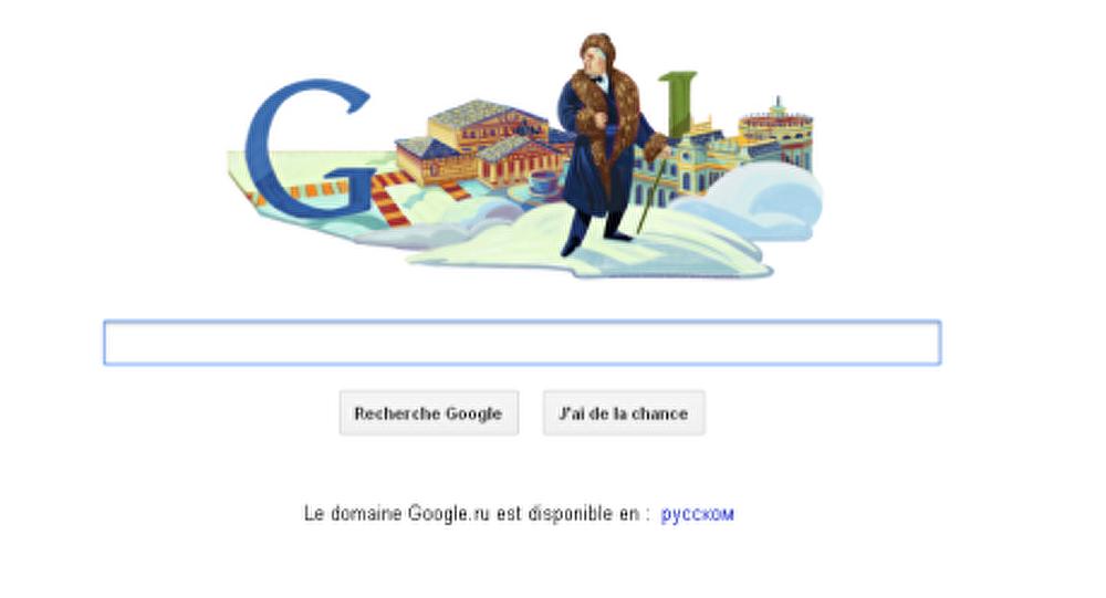 Google a marqué l'anniversaire de Chaliapine