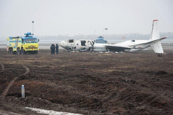 L'accident d'un An-24 près de Donetsk (Ukraine)