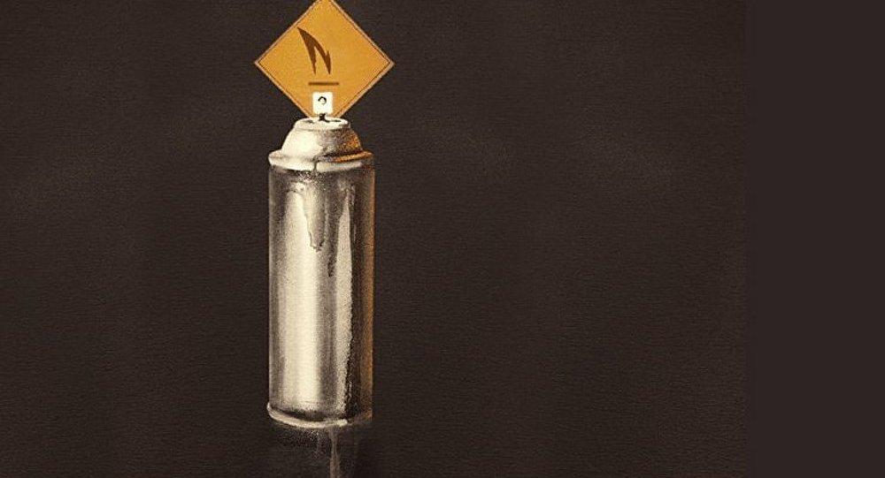 Banksy a « allumé une bougie » en mémoire de Pavel 183