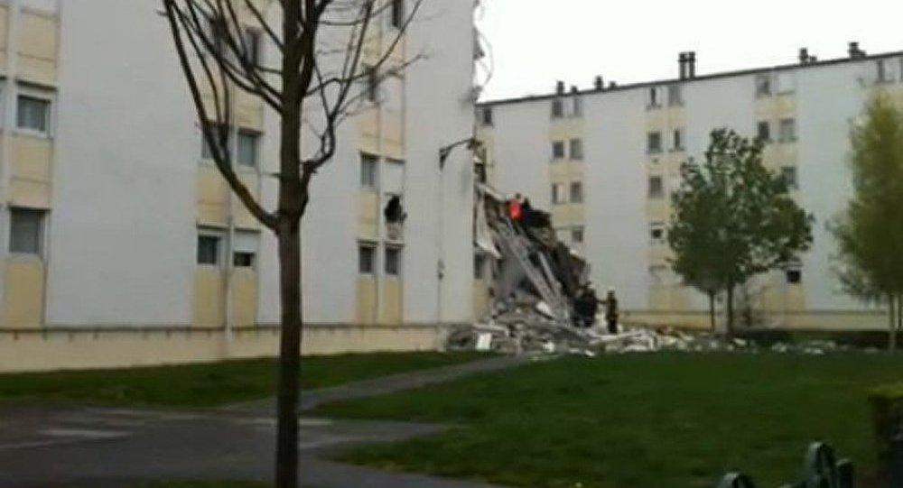 Une explosion de gaz a été la cause de l'effondrement d'un immeuble en France