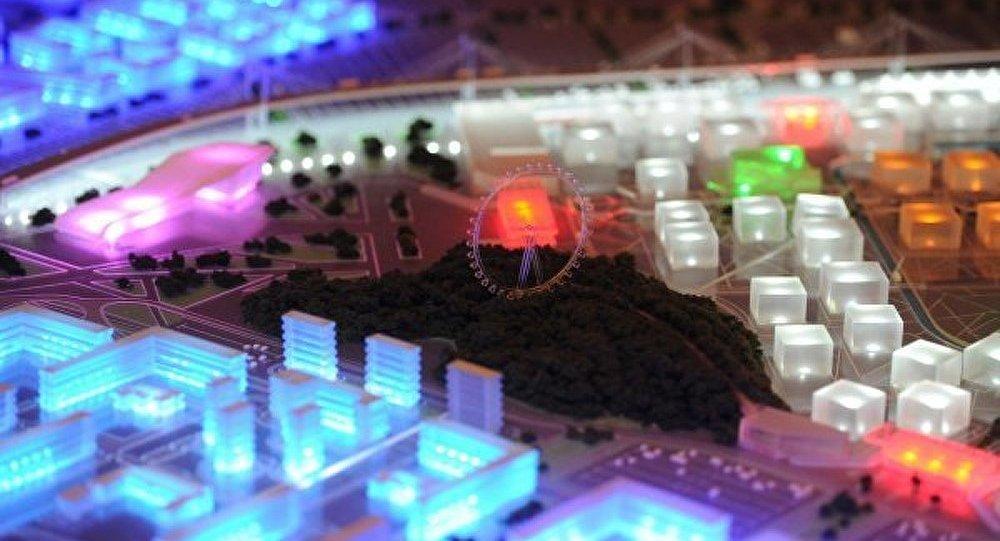 Maquette du parc des expositions d'Ekaterinbourg est présentée au Sommet