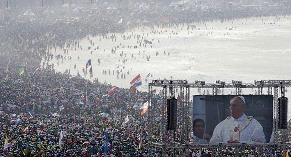 La messe du pape François a rassemblé 3 millions de personnes à Rio