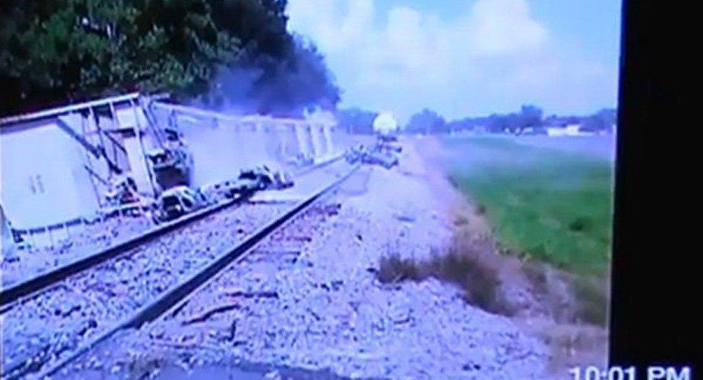 USA : déraillement d'un train de produits toxiques en Louisiane