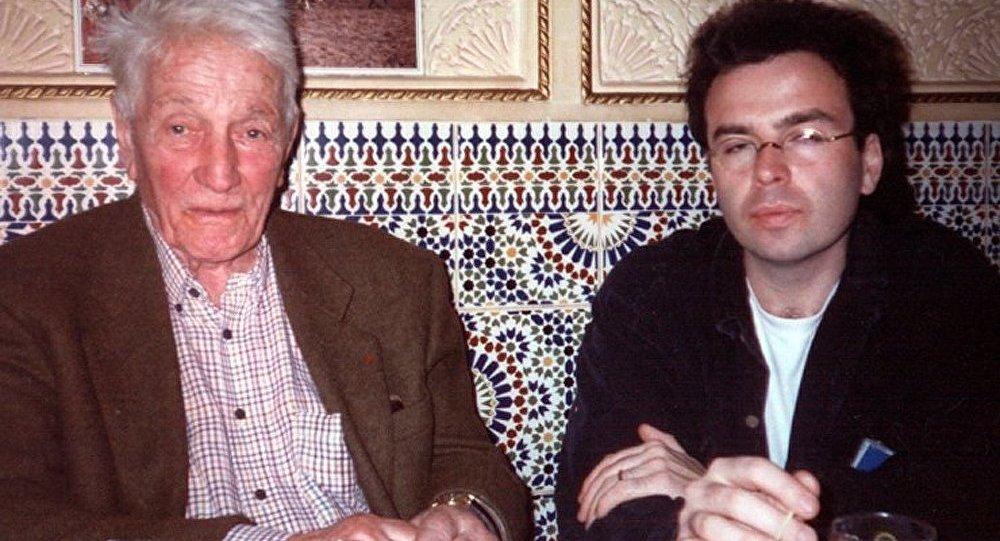 Marcel Haedrich et Olivier Renault en 1994 à Paris