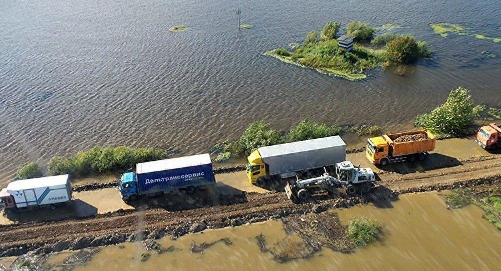 Russie/inondations : le niveau du fleuve Amour a dépassé les 840 сm