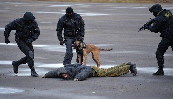 Exercices des forces spéciales au Salon Interpolitex-2013