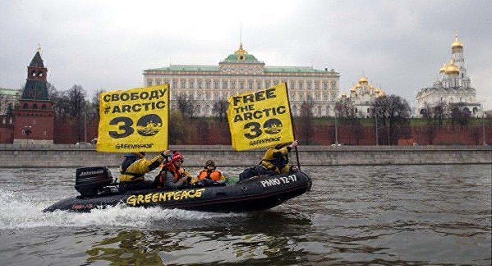 Moscou : manifestation de solidarité avec les militants de Greenpeace